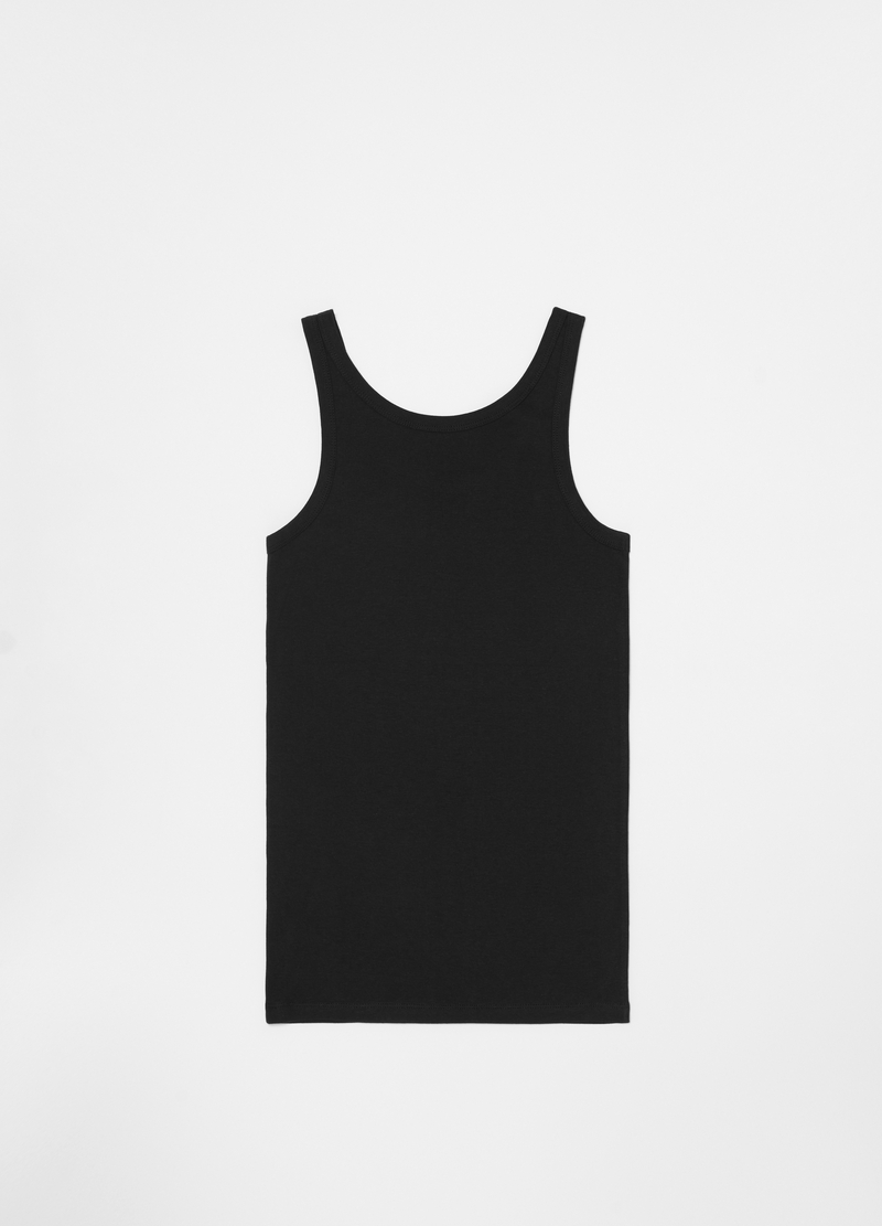 Racerback vest in 100% organic cotton with spaghetti straps image number null