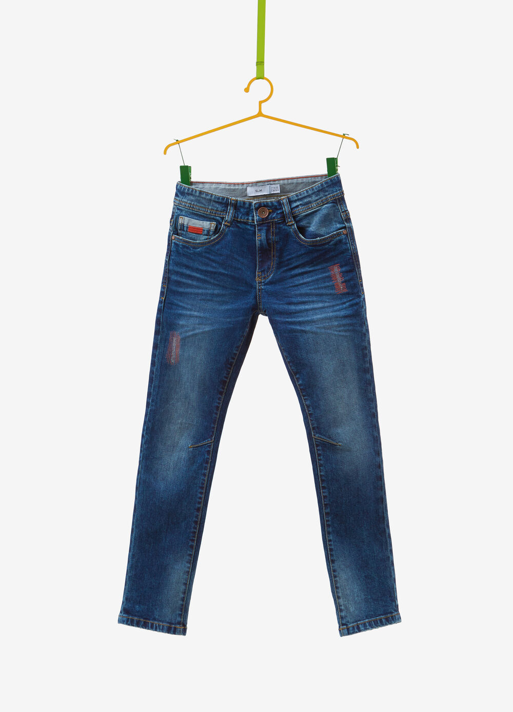 Jeans slim fit stretch used impunture