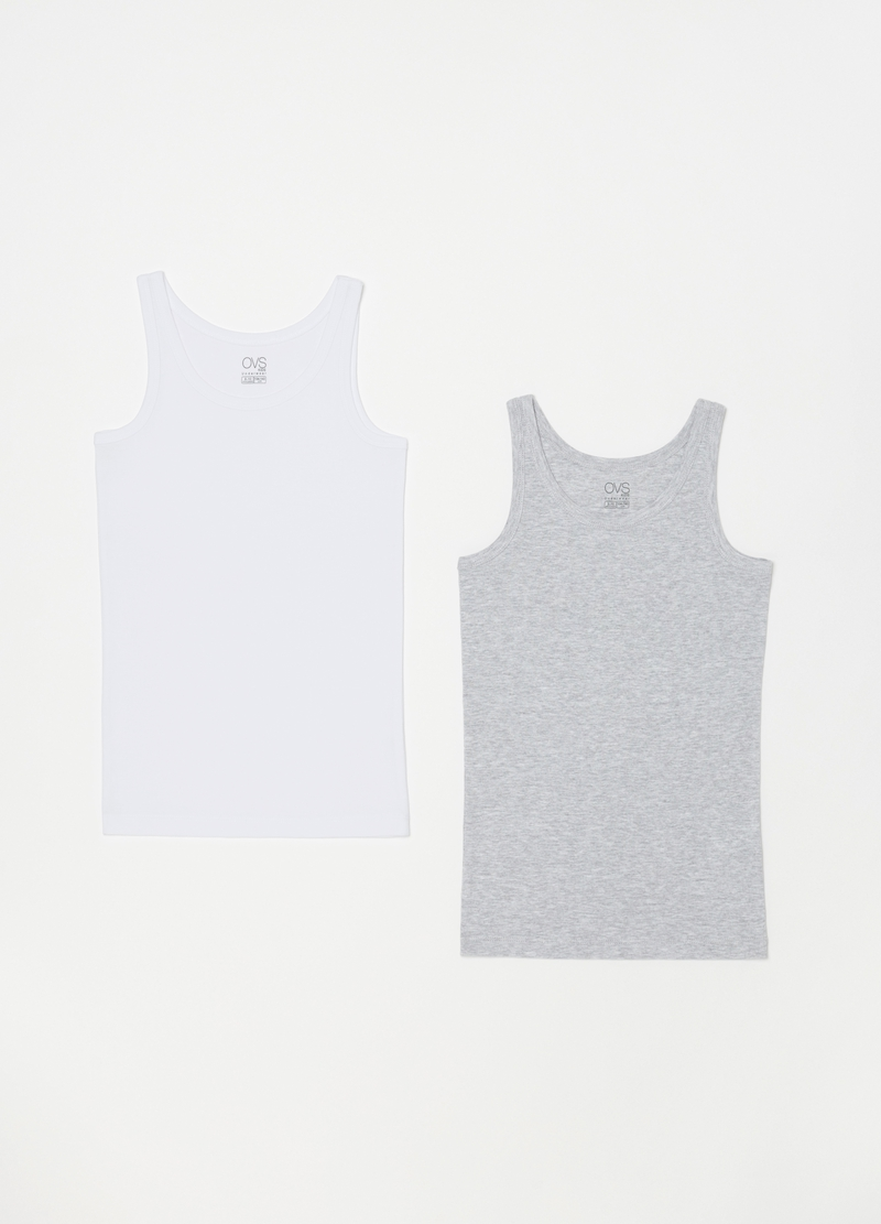 Two-pack organic cotton racerback vests image number null
