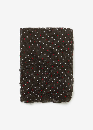 Polka dot pashmina with creased effect