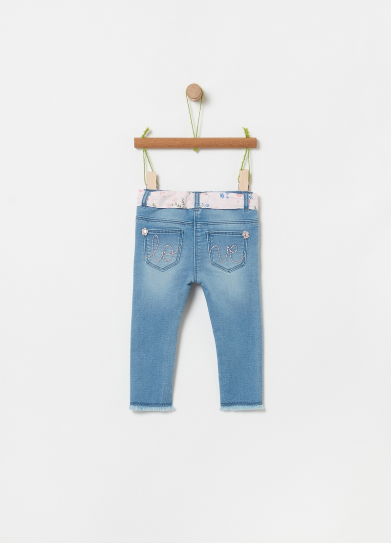 Joggers in French Terry denim image number null