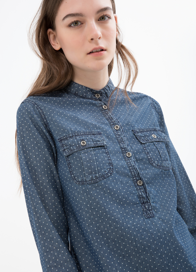 Polka dot shirt in 100% cotton image number null