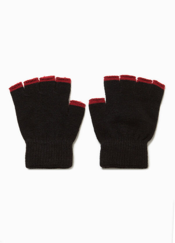 Fingerless gloves with contrasting edging | OVS