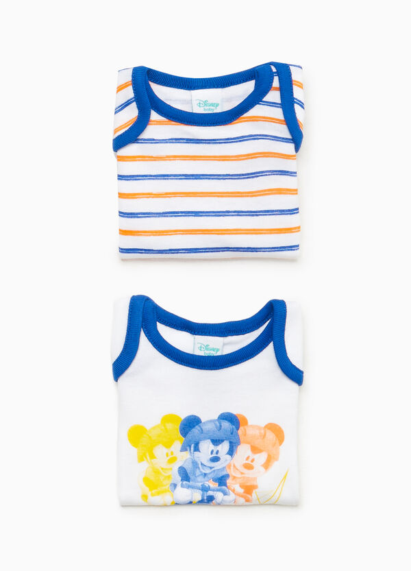 Two-pack Mickey Mouse bodysuits in cotton