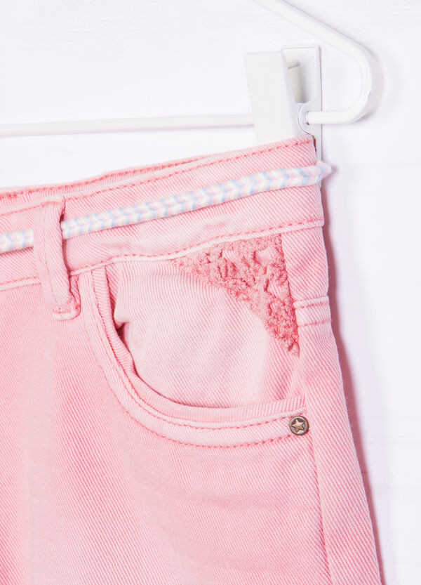 Denim shorts with small belt | OVS