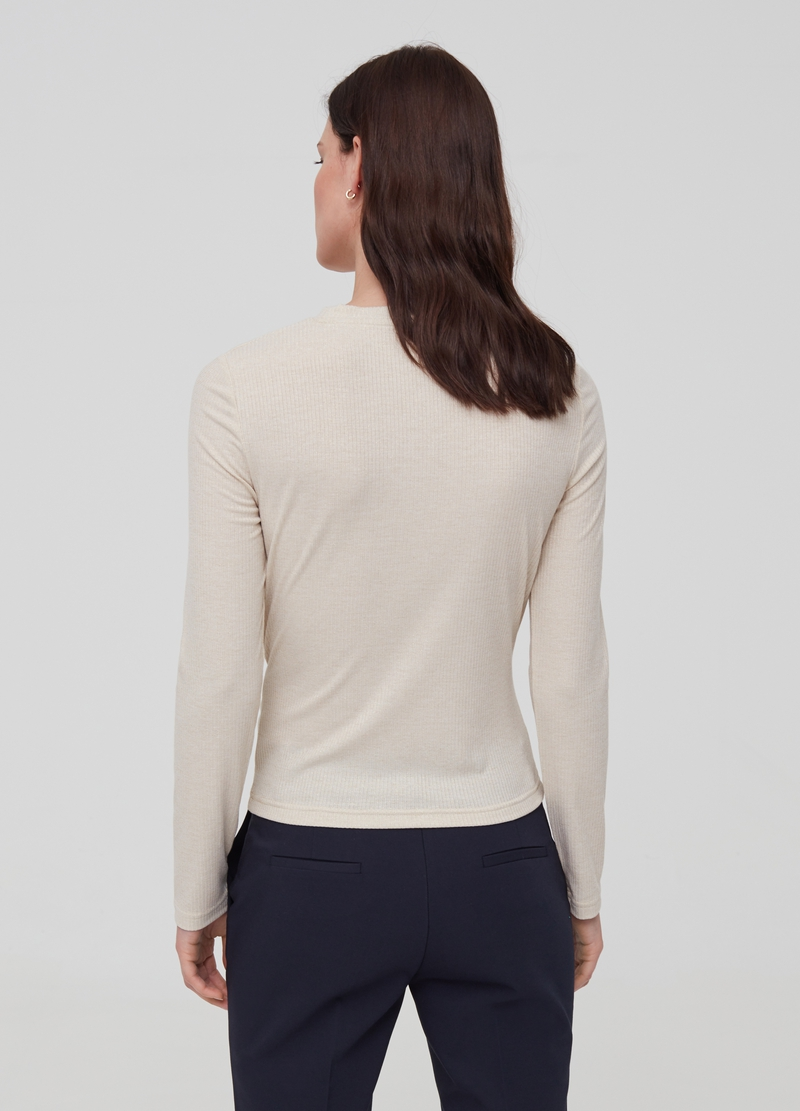 Ribbed lurex top image number null