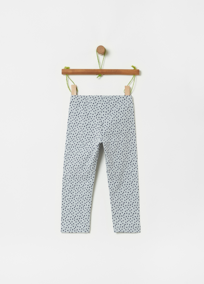 Leggings stampa a pois all-over image number null