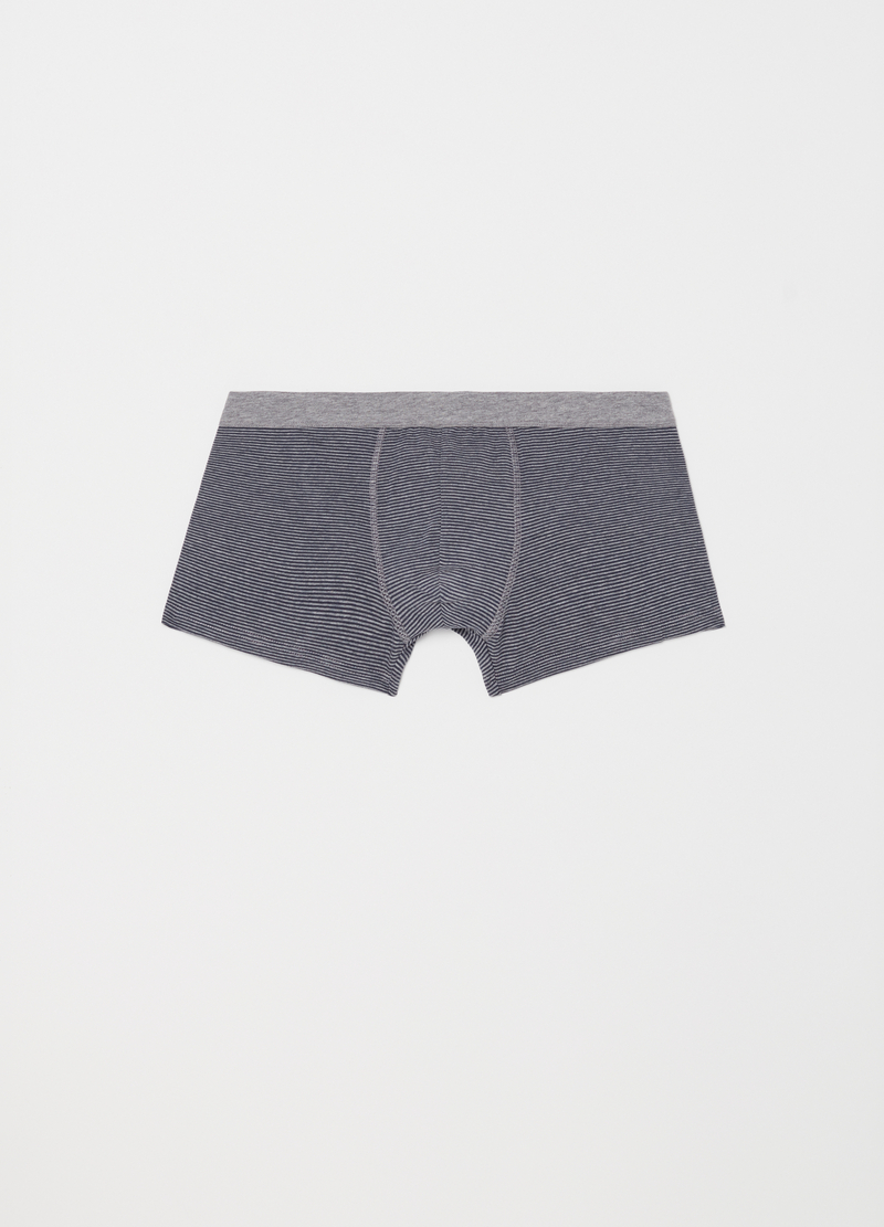 Two-pack yarn-dyed stretch cotton boxer shorts image number null