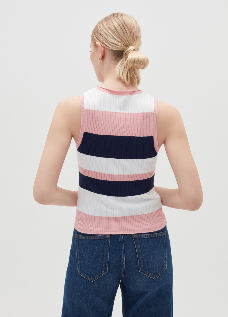 Tank top in maglia a coste image number null