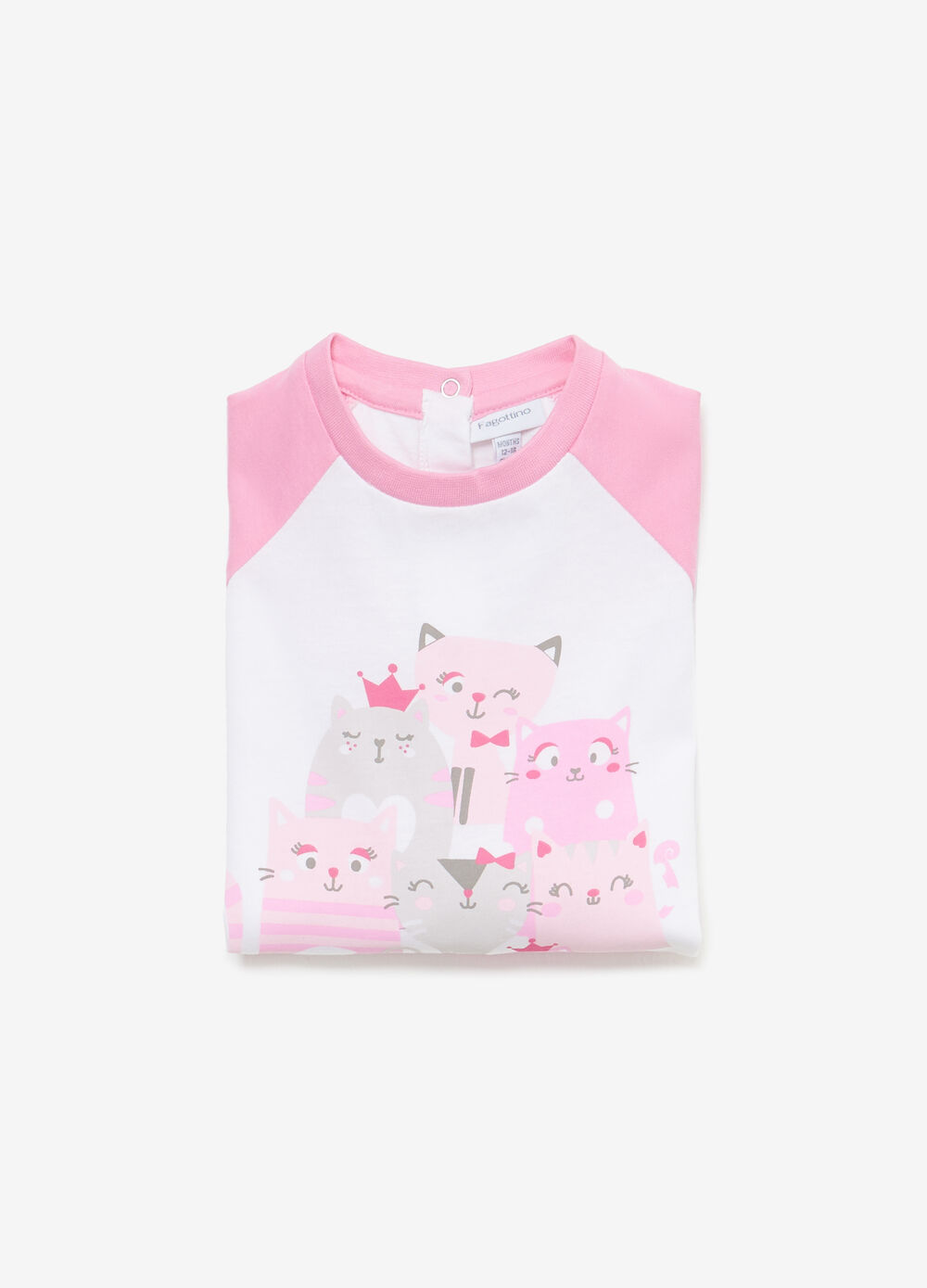 Cotton sleepsuit with kittens print