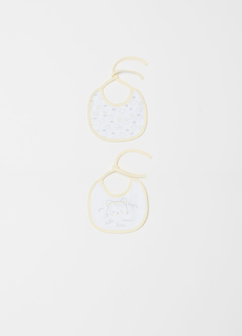 Two-pack BCI bibs in lined cotton