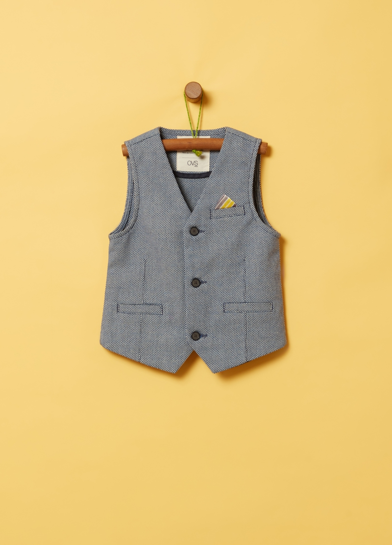 Fabric gilet with pockets image number null