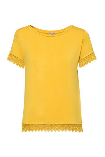 Smart Basic stretch lace T-shirt