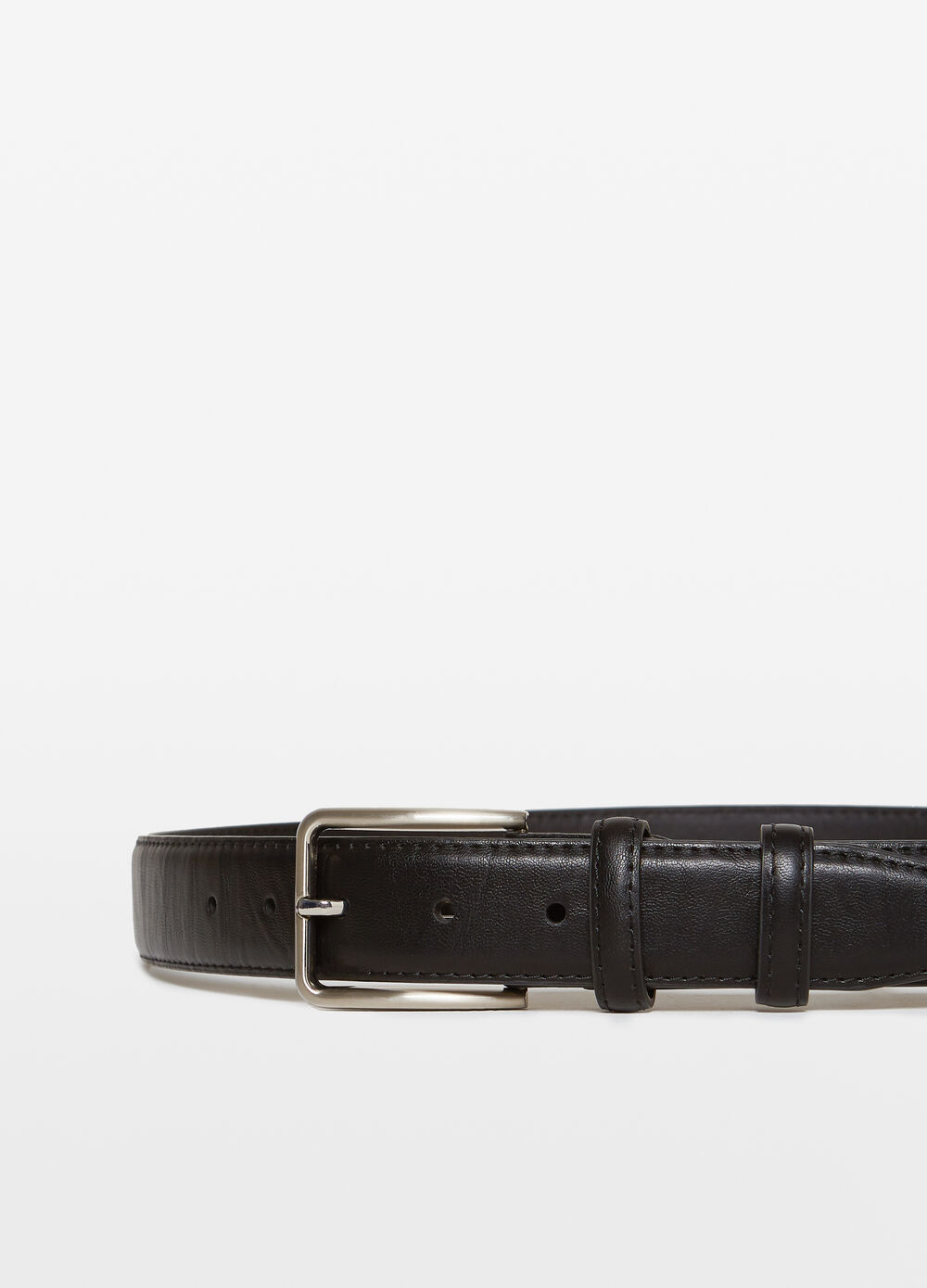 Textured-effect belt with two loops