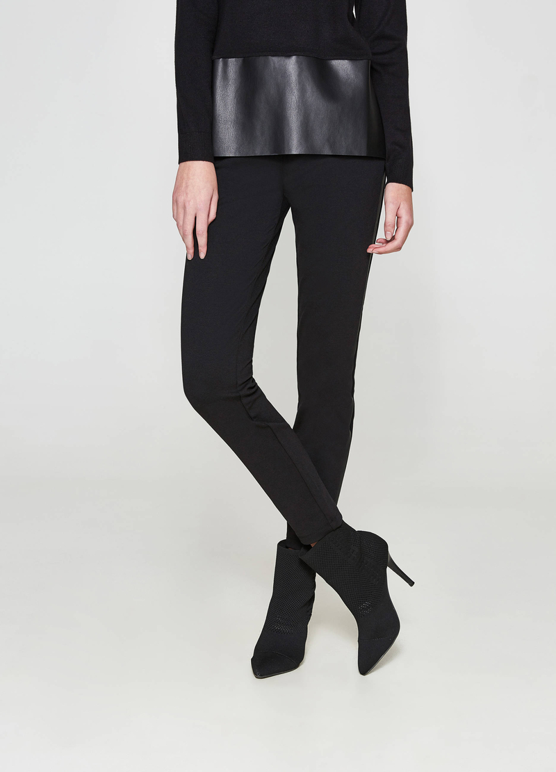 Leggings in viscosa stretch image number null
