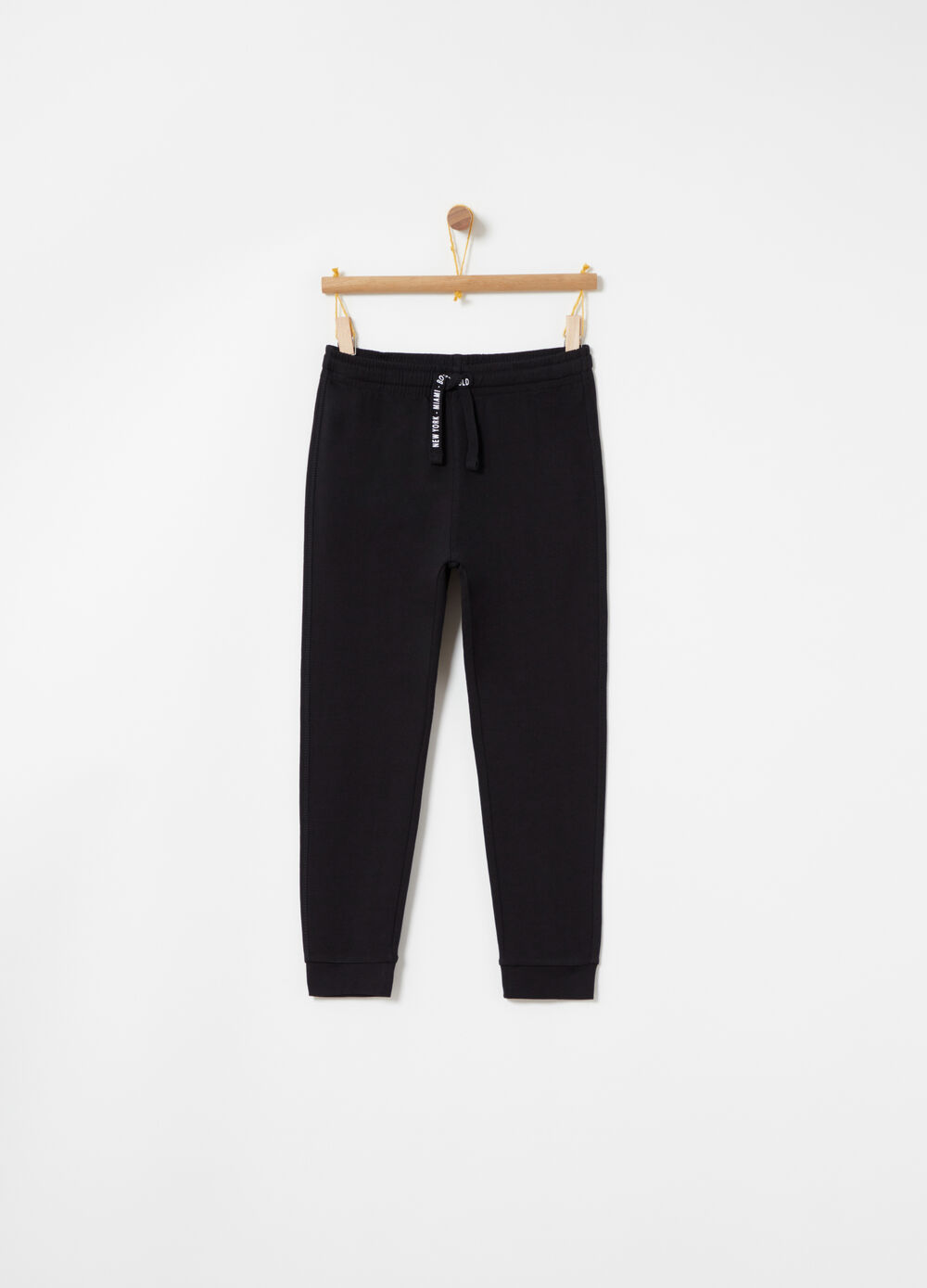 Regular-fit trousers with pocket in French Terry