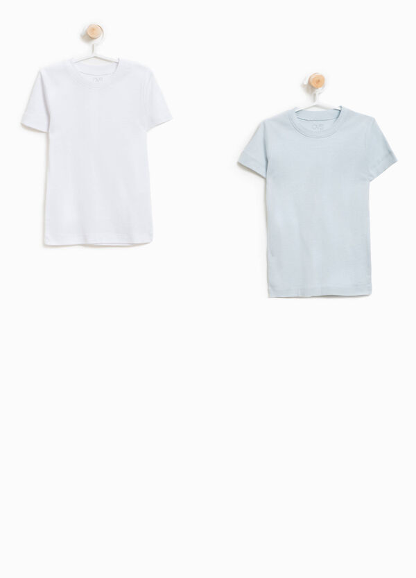 Set due t-shirt intime in cotone organico
