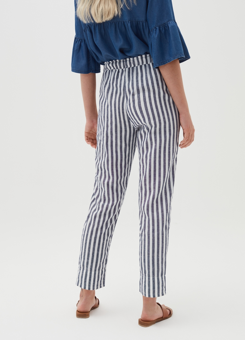 Pantaloni a righe con coulisse Alys image number null