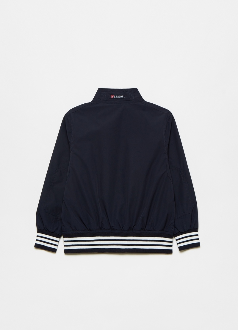 Windbreaker with striped details image number null