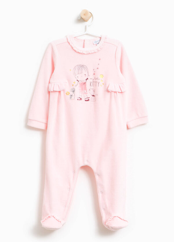 Printed sleep suit with feet | OVS