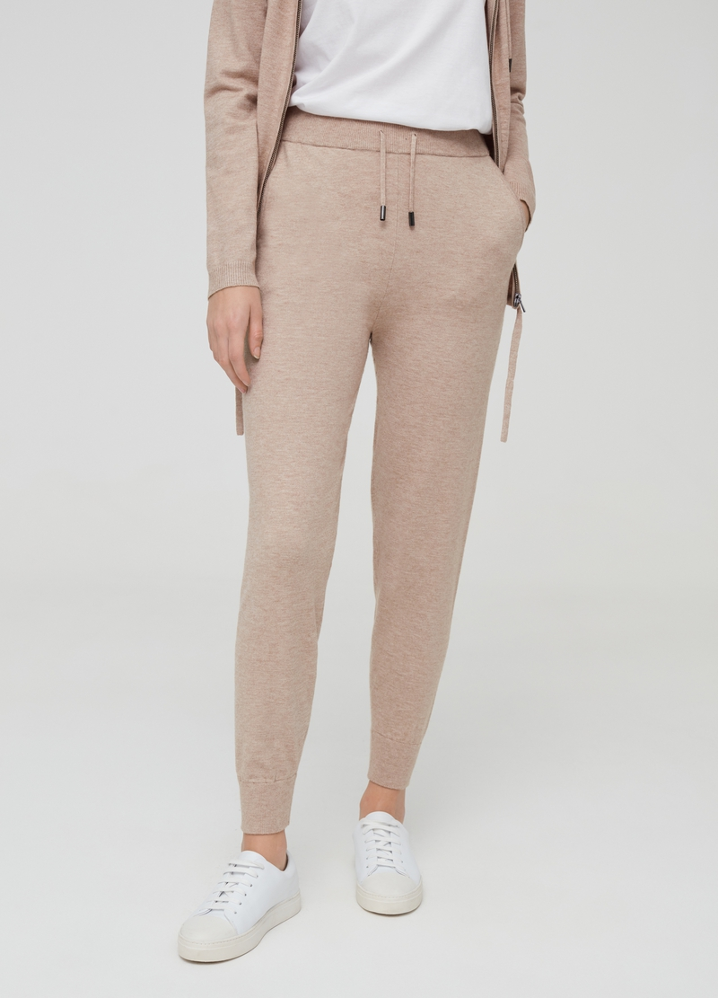 Joggers in maglia con coulisse image number null