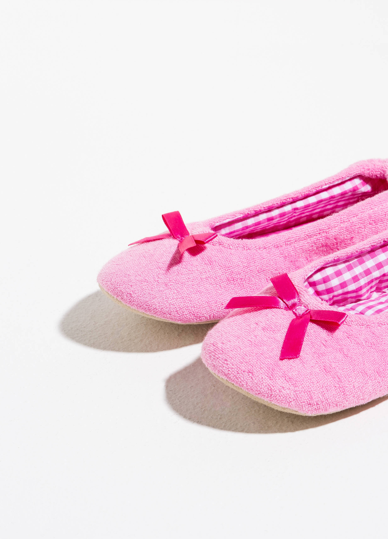 Terry ballerina slippers image number null