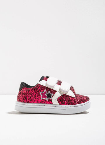 Sneakers glitterate in tela