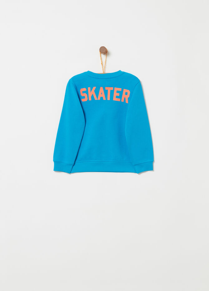 Lightweight sweatshirt with lettering print