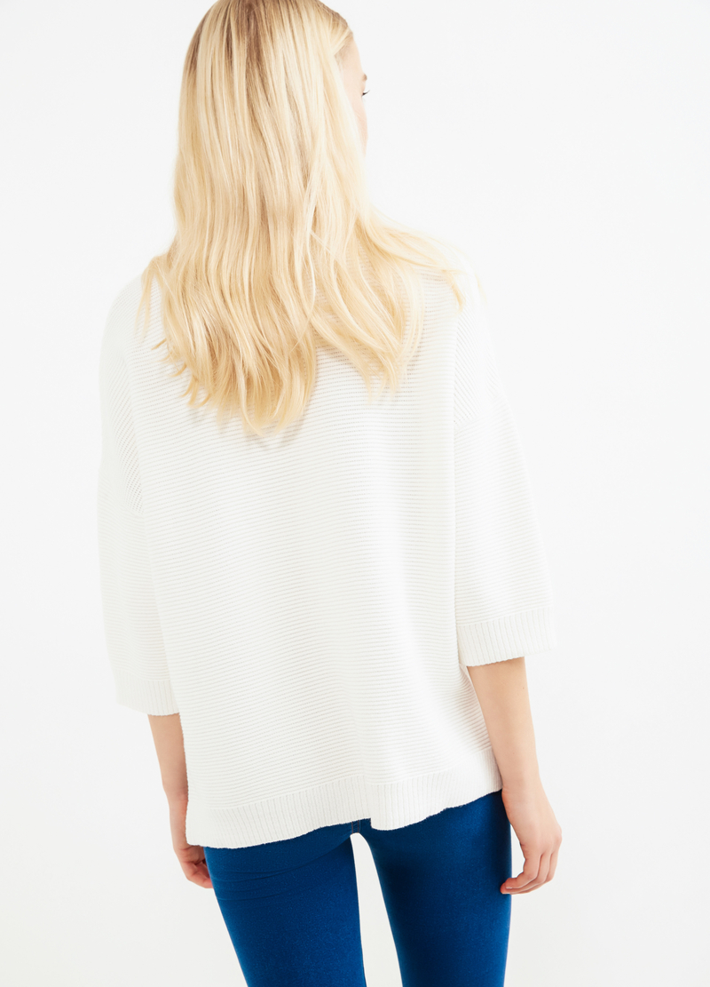 100% cotton knitted pullover image number null