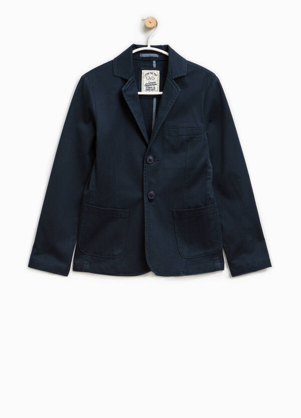 Two-button cotton jacket with lapels. | OVS