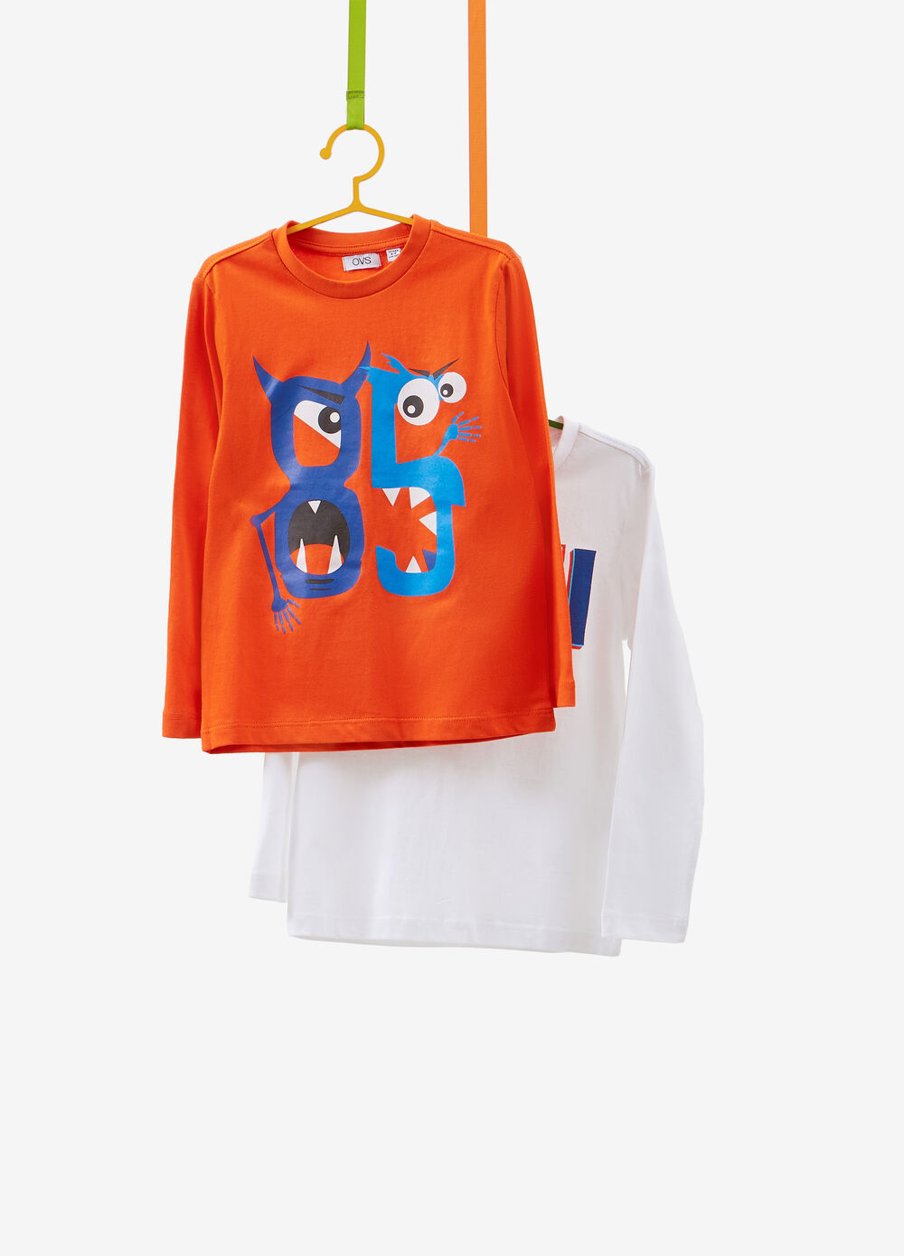 Set due t-shirt in puro cotone stampa