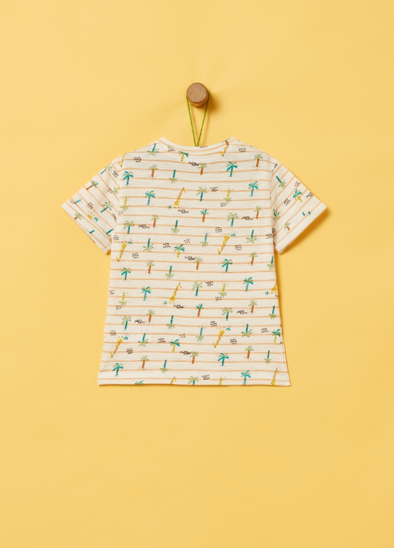 Organic cotton T-shirt with pattern image number null