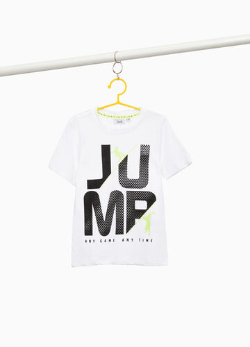 T-shirt misto cotone stampa lettering