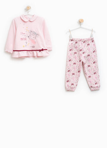 Pyjamas 100% cotton with rounded collar