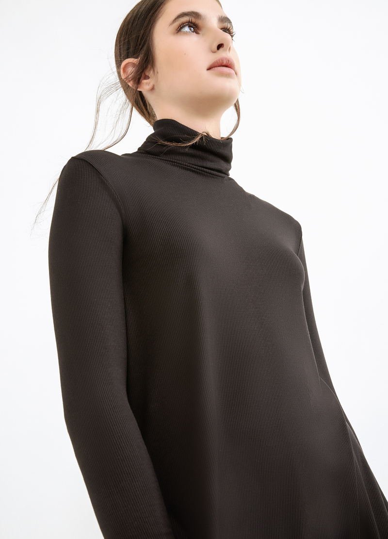Stretch viscose ribbed T-shirt image number null