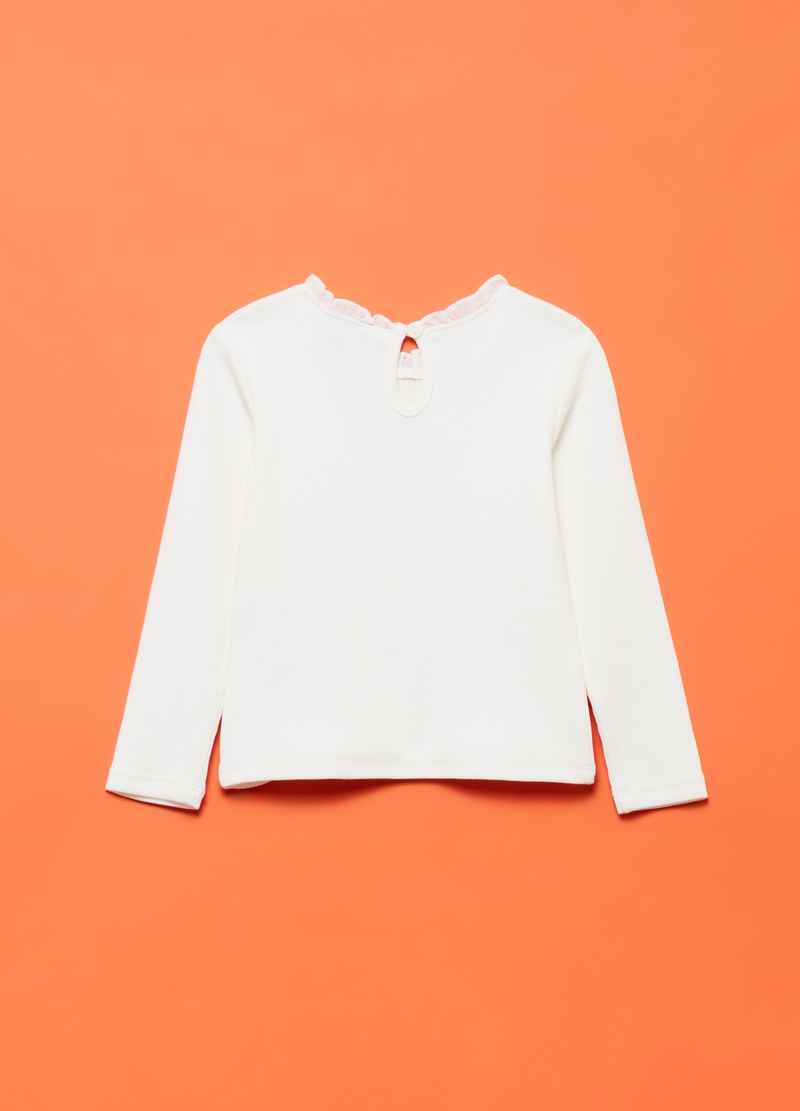 T-shirt cotone stretch a costina image number null