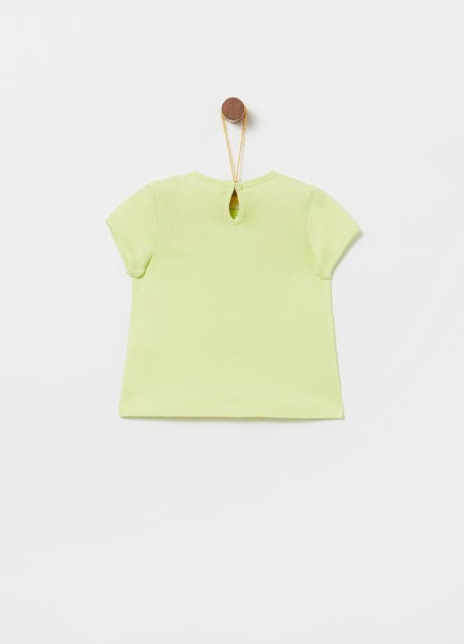 T-shirt in jersey cotone organico stampa