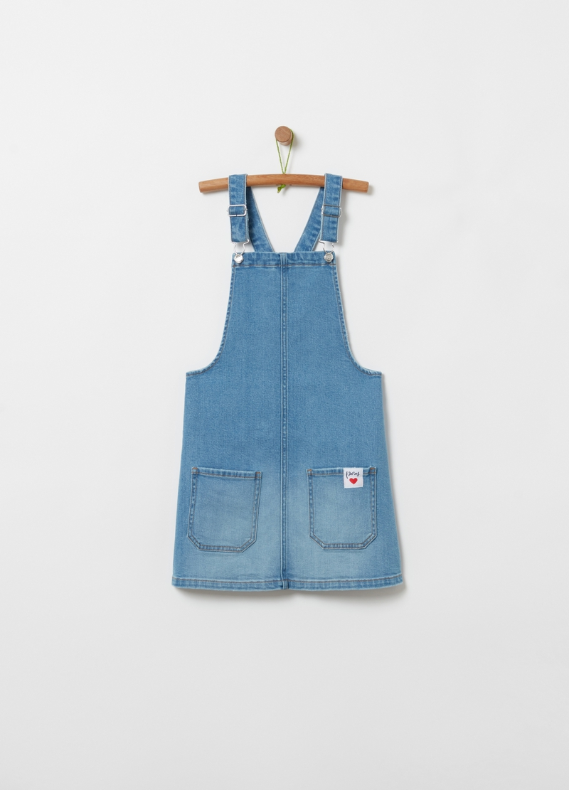 Pinafore in stretch denim image number null