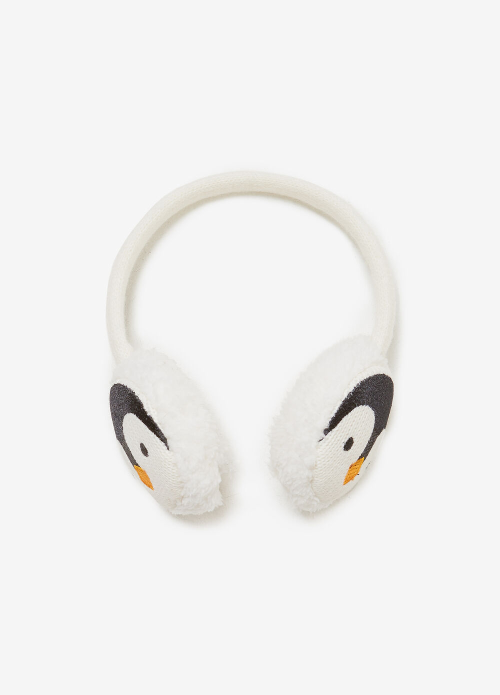Earmuffs with penguin embroidery