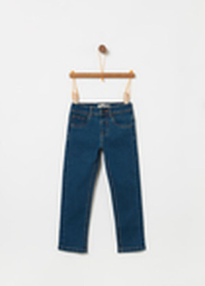 Jeans straight fit stretch con tasche