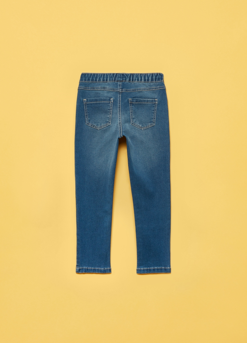 Jeggings stretch con cuoricini image number null