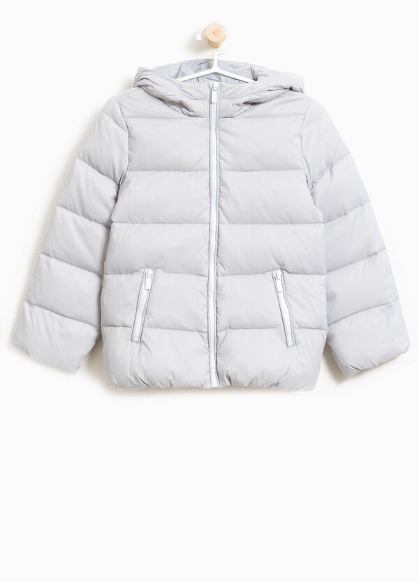 Down jacket with large hood | OVS