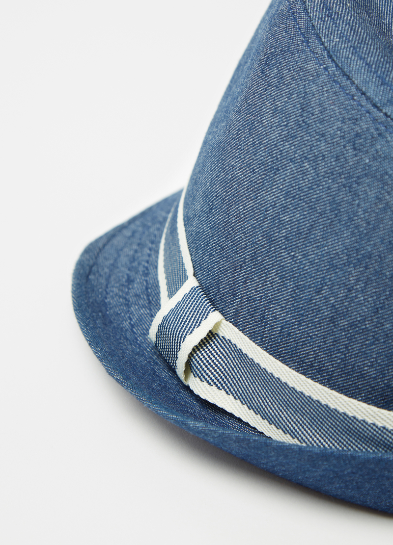 Denim hat with band image number null