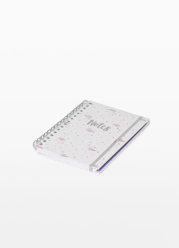 Printed notepad with spiral