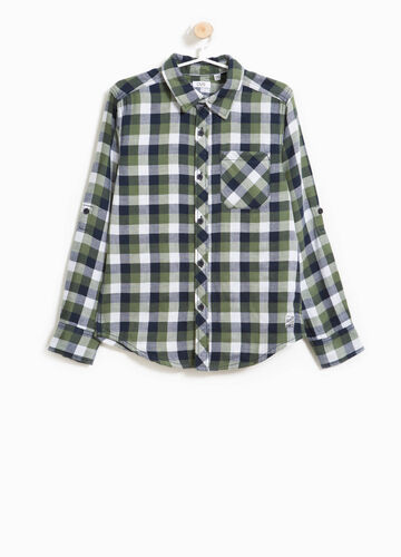 100% cotton flannel shirt with checks