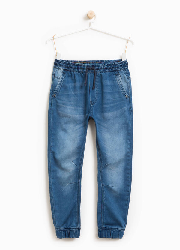 Jeans stretch delavati con coulisse | OVS