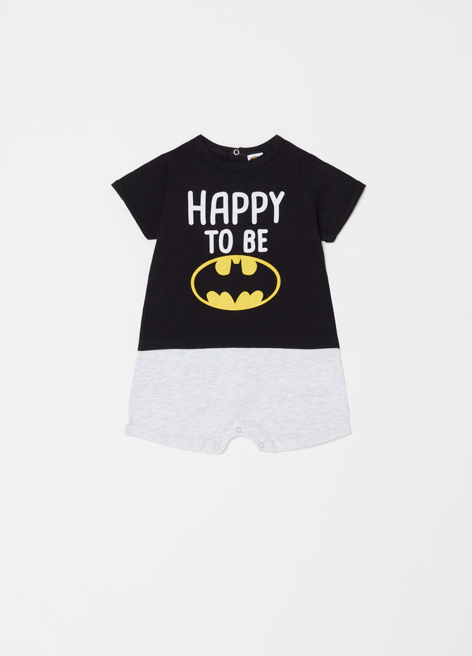 Tutina corta colorblock stampa Batman
