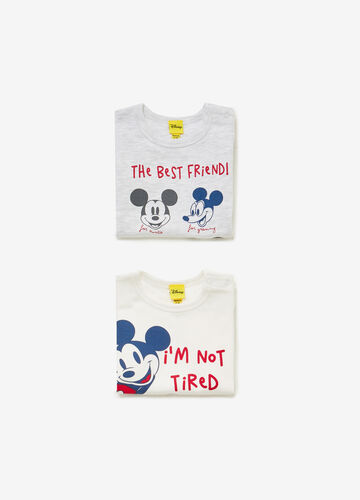 Two-pack Mickey Mouse bodysuits in 100% cotton