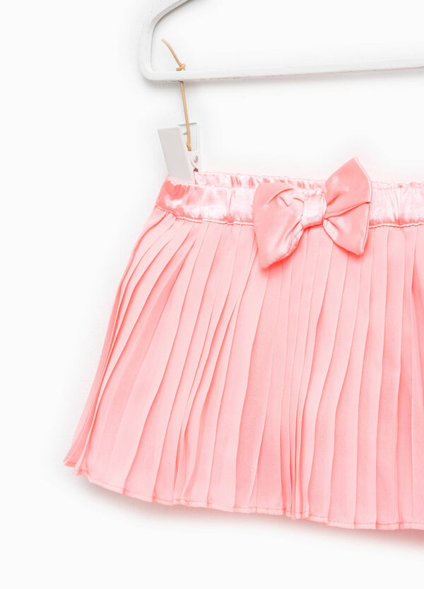 Pleated skirt with bow   OVS