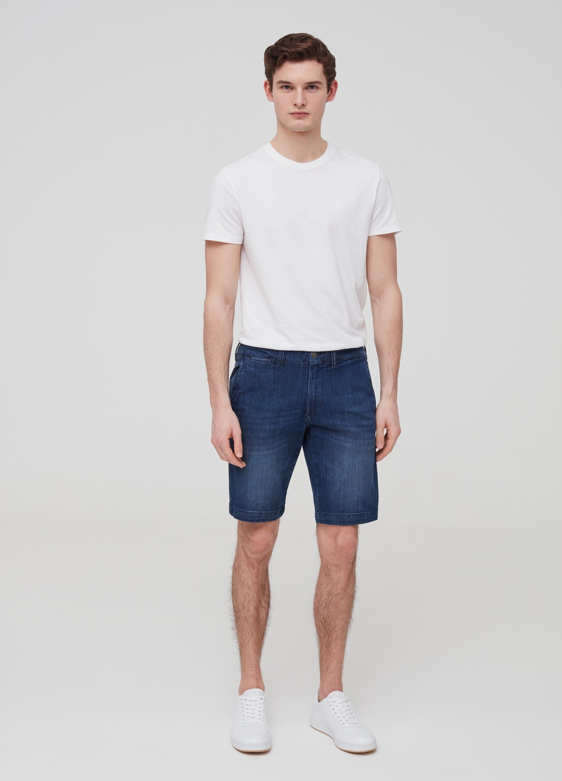 Slim-fit chino Bermuda shorts image number null